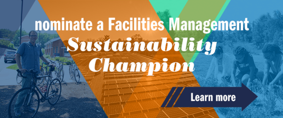 Nominate a Facilities Management Sustainability Champion