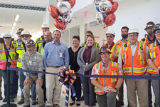 Facilities Management staff attend a ribbon cutting ceremony for the Health System's new emergency department
