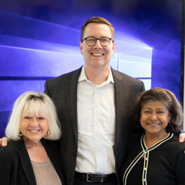 Sandra Smith and Vibha Buckingham pictured with Green Seal CEO Doug Gatlin
