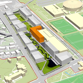 Architect rendering of Ivy Corridor construction projects