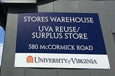 Sign for the ReUSE store: 580 McCormick Road