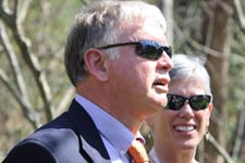 Jeff Sitler honored during tree planting ceremony