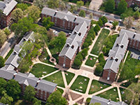Aerial view of McCormick Road Residence Halls