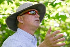 Jeff Sitler leads a tour of UVA's stormwater management system