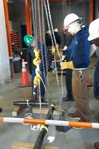 Facilities Management employees attend Hoist and Rigging training