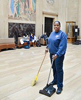 Custodial Services staff cleaning