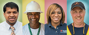 Portraits of diverse staff