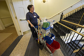 Custodial staff member at Bavaro Hall