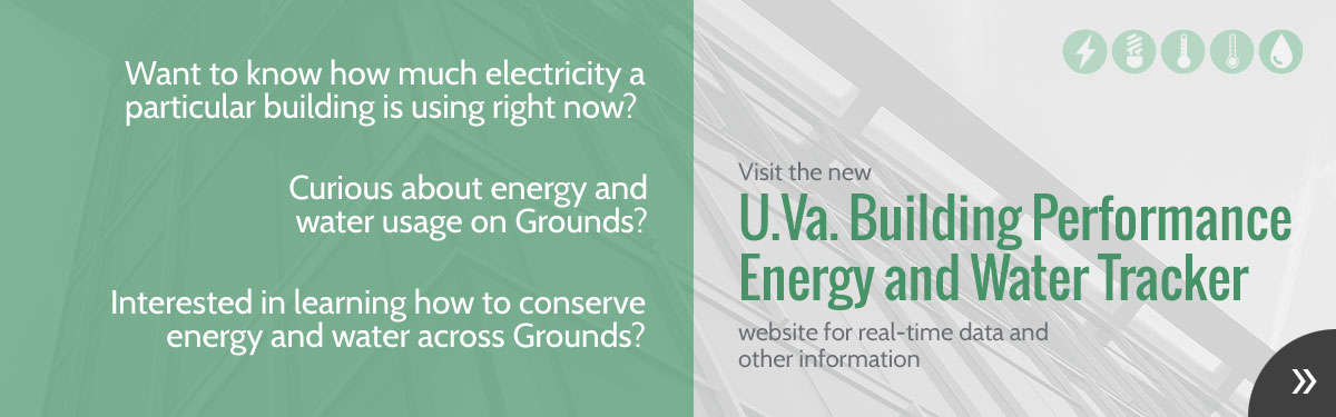 Graphic for U.Va. Building Performance Energy and Water Tracker website
