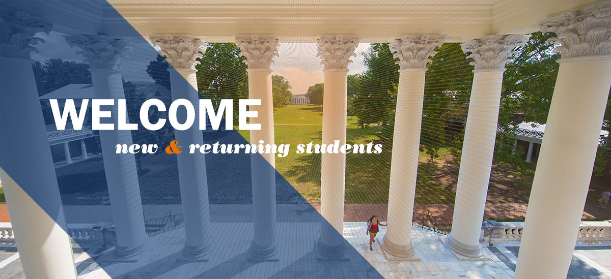 A student walks on the Rotunda's newely renovated South Portico