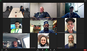 Safety committee chairs in a Zoom call together