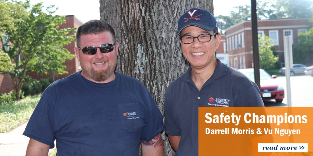 Safety Champions Darrell Morris and Vu Nguyen